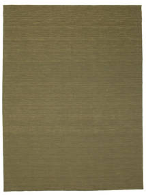Kilim Loom - Oliwkowy Dywan 300X400 Nowoczesny Tkany Ręcznie Zielony/Oliwkowy Duży (Wełna, Indie)