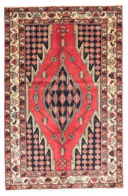 Saveh Dywan 130X200 Orientalny Tkany Ręcznie Ciemnobrązowy/Ciemnoczerwony (Wełna, Persja/Iran)