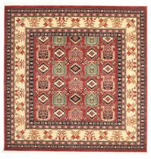 Kazak Simav Dywan 200X200 Orientalny Kwadratowy Ciemnoczerwony/Rdzawy/Czerwony ( Turcja)