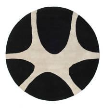 Stones Handtufted - Czarny Dywan Ø 150 Nowoczesny Okrągły Czarny/Jasnoszary (Wełna, Indie)