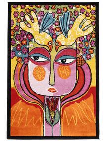 She Has Flowers In Her Hair Dywan 120X180 Nowoczesny Ciemnobrązowy/Pomarańczowy ( Turcja)
