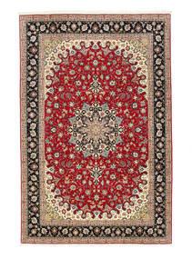 Tebriz 50 Raj Dywan 198X307 Orientalny Tkany Ręcznie Ciemnoczerwony/Jasnobrązowy (Wełna/Jedwab, Persja/Iran)