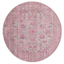 Maharani - Szary/Różowy Dywan Ø 150 Nowoczesny Okrągły Jasnoróżowy ( Turcja)