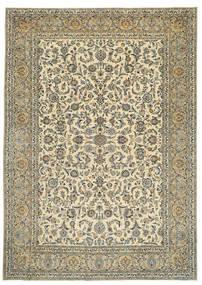 Keszan Patina Sygnowany: Tabatabai Dywan 275X390 Orientalny Tkany Ręcznie Beżowy/Ciemnoszary Duży (Wełna, Persja/Iran)