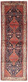 Hamadan Dywan 102X305 Orientalny Tkany Ręcznie Chodnik Ciemnoczerwony/Brązowy (Wełna, Persja/Iran)