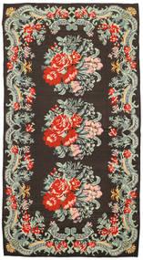 Kilim Rose Dywan 171X314 Orientalny Tkany Ręcznie Ciemnoszary/Jasnoszary (Wełna, Mołdawia)