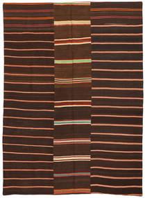 Kilim Patchwork Dywan 175X241 Nowoczesny Tkany Ręcznie Ciemnobrązowy/Ciemnoczerwony (Wełna, Turcja)