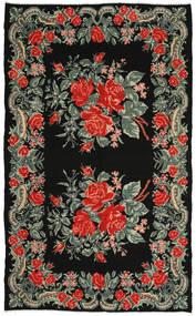 Kilim Rose Dywan 186X306 Orientalny Tkany Ręcznie Ciemnoszary/Rdzawy/Czerwony (Wełna, Mołdawia)