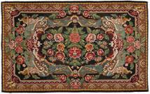 Kilim Rose Dywan 220X345 Orientalny Tkany Ręcznie Ciemnoszary/Ciemnobrązowy (Wełna, Mołdawia)