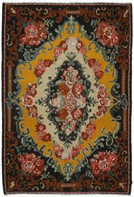 Kilim Rose Dywan 221X321 Orientalny Tkany Ręcznie Czarny/Ciemnobrązowy (Wełna, Mołdawia)