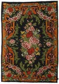 Kilim Rose Dywan 247X347 Orientalny Tkany Ręcznie Czarny/Ciemnozielony (Wełna, Mołdawia)