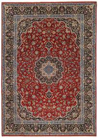 Ilam Sherkat Farsh Jedwab Dywan 245X350 Orientalny Tkany Ręcznie Ciemnoczerwony/Ciemnobrązowy/Ciemnoszary (Wełna/Jedwab, Persja/Iran)