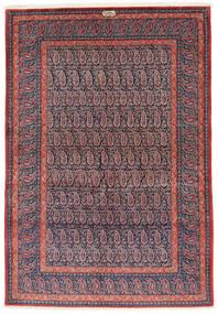 Keszan Sygnowany: Shadsar Dywan 138X201 Orientalny Tkany Ręcznie Ciemnofioletowy/Jasnofioletowy (Wełna, Persja/Iran)
