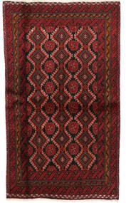 Beludż Dywan 101X170 Orientalny Tkany Ręcznie Ciemnoczerwony/Ciemnobrązowy (Wełna, Persja/Iran)