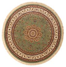Nahal - Zielony Dywan Ø 200 Nowoczesny Okrągły Brązowy/Zielony/Oliwkowy ( Turcja)