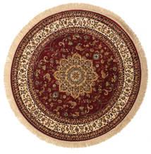 Nahal - Rdzawy Dywan Ø 150 Nowoczesny Okrągły Ciemnoczerwony/Ciemnobrązowy ( Turcja)