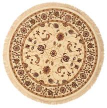Sarina - Beżowy Dywan Ø 150 Nowoczesny Okrągły Beżowy/Ciemnobeżowy/Brązowy ( Turcja)