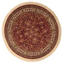 Kerman Diba - Czerwony Dywan Ø 150 Nowoczesny Okrągły Ciemnoczerwony/Beżowy ( Turcja)