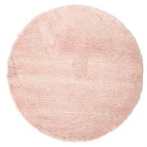 Shaggy Sadeh - Różowy Dywan Ø 150 Nowoczesny Okrągły Jasnoróżowy/Beżowy ( Turcja)