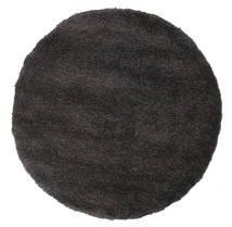 Shaggy Sadeh - Czarny/Szary Dywan Ø 150 Nowoczesny Okrągły Czarny ( Turcja)