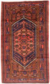 Hamadan Dywan 143X247 Orientalny Tkany Ręcznie Ciemnoczerwony/Czerwony (Wełna, Persja/Iran)