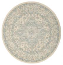 Ziegler Phoenix - Beżowy/Niebieski Dywan Ø 150 Orientalny Okrągły Jasnoszary/Ciemnobeżowy ( Turcja)