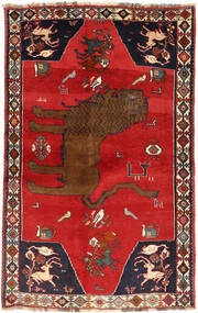 Kaszkaj Dywan 129X208 Orientalny Tkany Ręcznie Rdzawy/Czerwony/Ciemnoczerwony (Wełna, Persja/Iran)