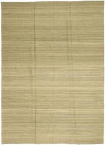 Kilim Nowoczesne Dywan 208X282 Nowoczesny Tkany Ręcznie Jasnozielony/Zielony/Oliwkowy (Wełna, Afganistan)