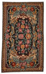Kilim Rose Moldavia Dywan 214X357 Orientalny Tkany Ręcznie Ciemnobrązowy/Ciemnoszary (Wełna, Mołdawia)