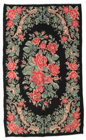 Kilim Rose Moldavia Dywan 168X285 Orientalny Tkany Ręcznie Czarny/Jasnoszary (Wełna, Mołdawia)