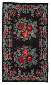 Kilim Rose Moldavia Dywan 185X314 Orientalny Tkany Ręcznie Czarny/Ciemnoniebieski (Wełna, Mołdawia)