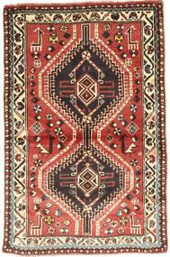 Kaszkaj Dywan 97X150 Orientalny Tkany Ręcznie Ciemnobrązowy/Ciemnoczerwony (Wełna, Persja/Iran)