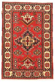 Kazak Dywan 97X149 Orientalny Tkany Ręcznie Ciemnoczerwony/Ciemnobrązowy (Wełna, Pakistan)