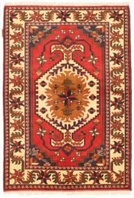Kazak Dywan 105X154 Orientalny Tkany Ręcznie Pomarańczowy/Beżowy (Wełna, Pakistan)