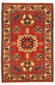 Kazak Dywan 101X158 Orientalny Tkany Ręcznie Rdzawy/Czerwony/Ciemnobrązowy (Wełna, Pakistan)