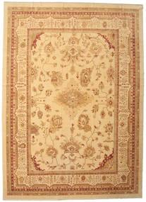 Usak Dywan 384X535 Orientalny Tkany Ręcznie Ciemnobeżowy/Jasnobrązowy Duży (Wełna, Turcja)