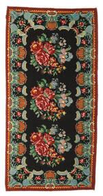 Kilim Rose Moldavia Dywan 165X324 Orientalny Tkany Ręcznie Czarny/Ciemnoczerwony (Wełna, Mołdawia)