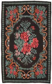 Kilim Rose Moldavia Dywan 171X278 Orientalny Tkany Ręcznie Czarny/Ciemnoszary (Wełna, Mołdawia)
