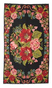Kilim Rose Moldavia Dywan 171X308 Orientalny Tkany Ręcznie Czarny/Czerwony (Wełna, Mołdawia)