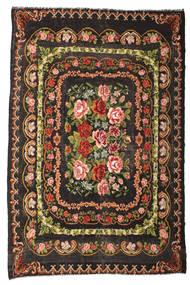 Kilim Rose Moldavia Dywan 233X365 Orientalny Tkany Ręcznie Ciemnobrązowy/Ciemnoszary (Wełna, Mołdawia)
