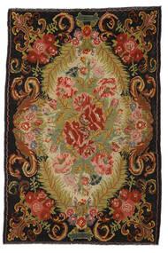 Kilim Rose Moldavia Dywan 194X297 Orientalny Tkany Ręcznie Czerwony/Ciemnobrązowy (Wełna, Mołdawia)