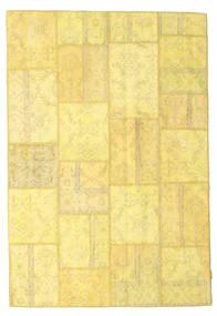 Patchwork Dywan 158X236 Nowoczesny Tkany Ręcznie Żółty/Ciemnobeżowy (Wełna, Turcja)