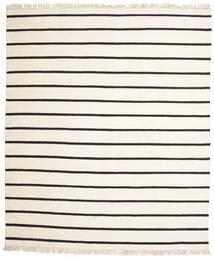 Dorri Stripe - White/Czarny Dywan 250X300 Nowoczesny Tkany Ręcznie Beżowy/Biały/Creme Duży (Wełna, Indie)