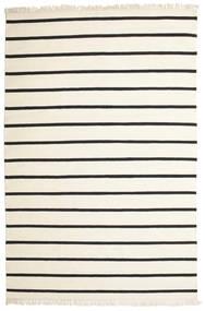 Dorri Stripe - White/Czarny Dywan 200X300 Nowoczesny Tkany Ręcznie Beżowy/Ciemnoszary (Wełna, Indie)