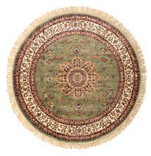 Nahal - Zielony Dywan Ø 150 Nowoczesny Okrągły Jasnobrązowy/Beżowy ( Turcja)