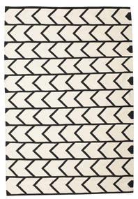 Delia Dywan 160X230 Nowoczesny Tkany Ręcznie Beżowy/Czarny (Bawełna, Indie)