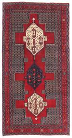 Senneh Patina Dywan 145X299 Orientalny Tkany Ręcznie Ciemnobrązowy/Czerwony (Wełna, Persja/Iran)