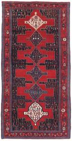 Senneh Patina Dywan 128X277 Orientalny Tkany Ręcznie Czerwony/Czarny (Wełna, Persja/Iran)