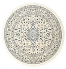 Nain Emilia - Cream/Jasny Niebieski Dywan Ø 150 Orientalny Okrągły Beżowy/Jasnoszary ( Turcja)