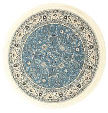 Nain Florentine - Jasnoniebieski Dywan Ø 150 Orientalny Okrągły Beżowy/Niebieski ( Turcja)